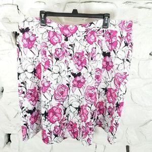 Lane Bryant Womens Plus Sz 24 Floral A Line Skirt